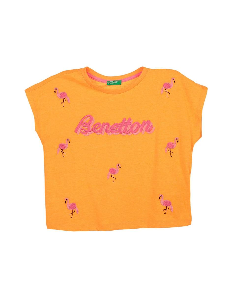 4e026ac90 Playera bordada Benetton para niña