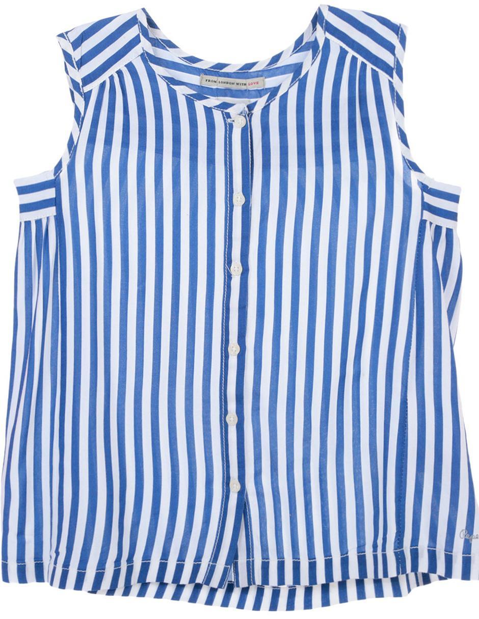 b1b7ce19f Blusa a rayas Pepe Jeans para niña