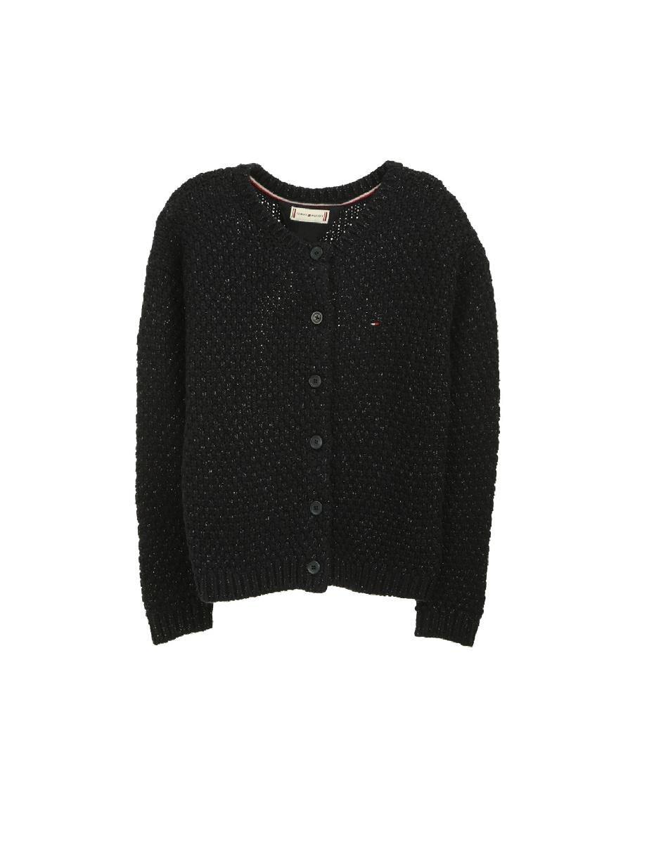 b0495437756 Suéter tejido Tommy Hilfiger algodón para niña